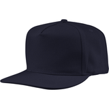 US01PW 5 Panel Twill Snapback Navy