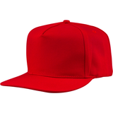 US01PW 5 Panel Twill Snapback Red