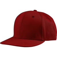 US02CT 6 Panel Twill Snapback Cardinal