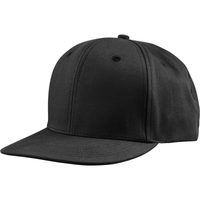 US02CT 6 Panel Twill Snapback Black
