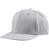 US02CT 6 Panel Twill Snapback Grey