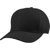 US04 6 Panel Cap Curved Bill Black