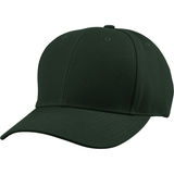 US04 6 Panel Cap Curved Bill Dark Green