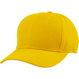 US04 6 Panel Cap Curved Bill Gold