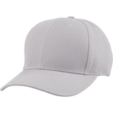US04 6 Panel Cap Curved Bill Grey
