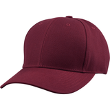 US04 6 Panel Cap Curved Bill Maroon