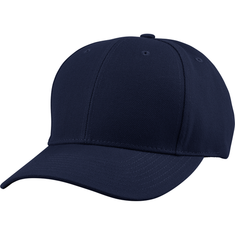 US04 6 Panel Cap Curved Bill Navy