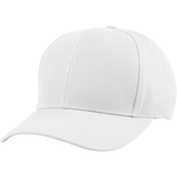 US04 6 Panel Cap Curved Bill White