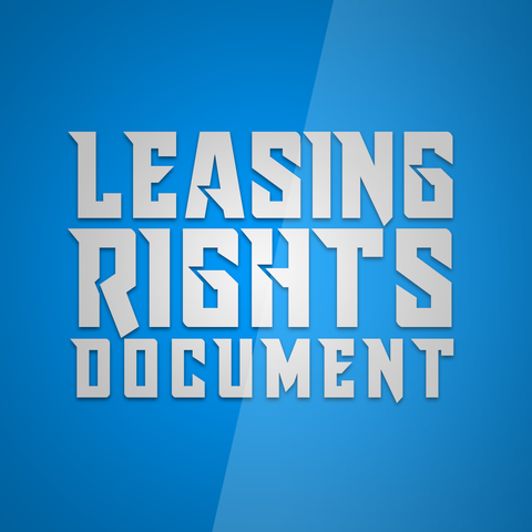 Standard leasing rights document