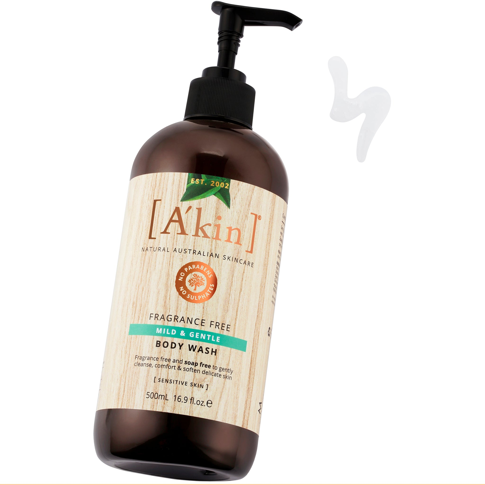Mild & Gentle Fragrance Free Body Wash