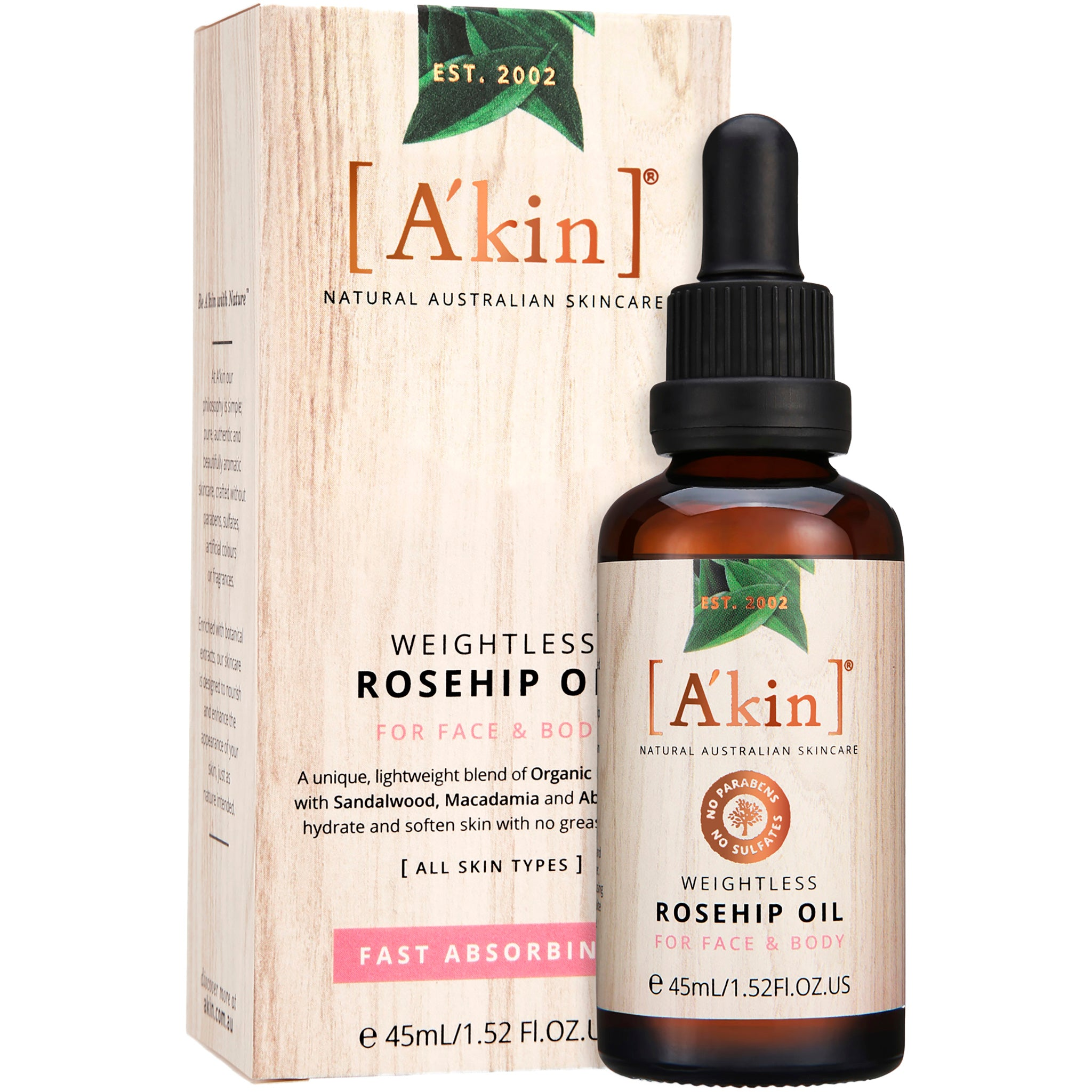Weightless Rosehip Oil For Face and Body