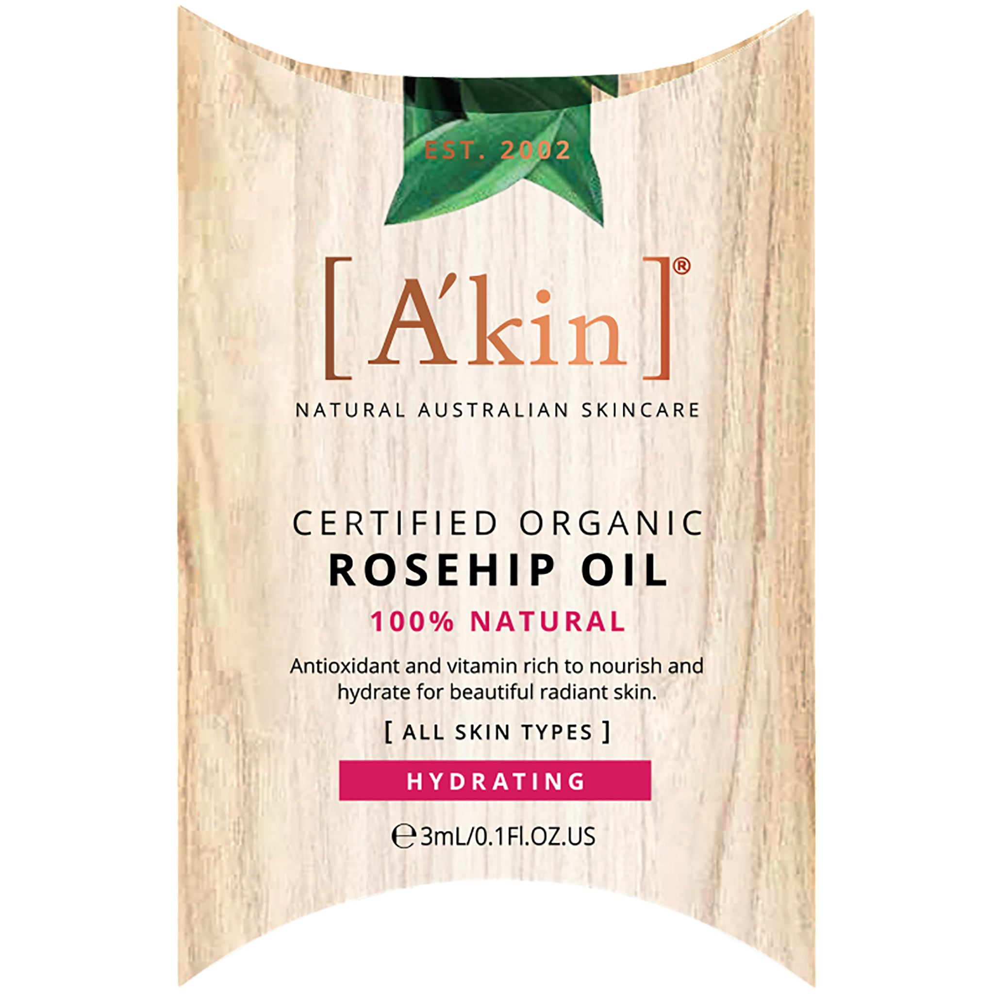 Certified Organic 100% Natural Rosehip Oil
