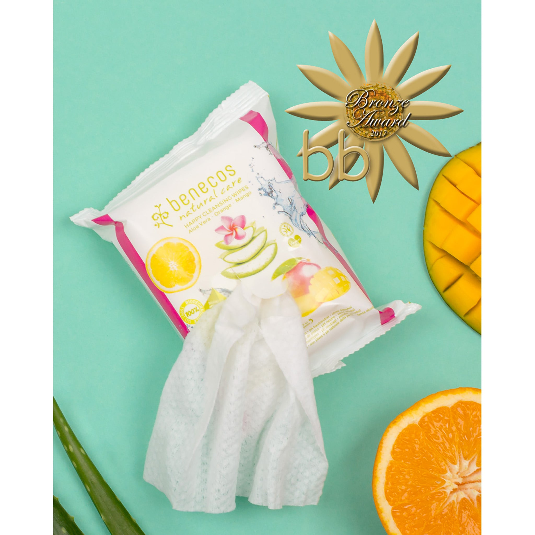 Natural Care Happy Facial Cleansing Wipes