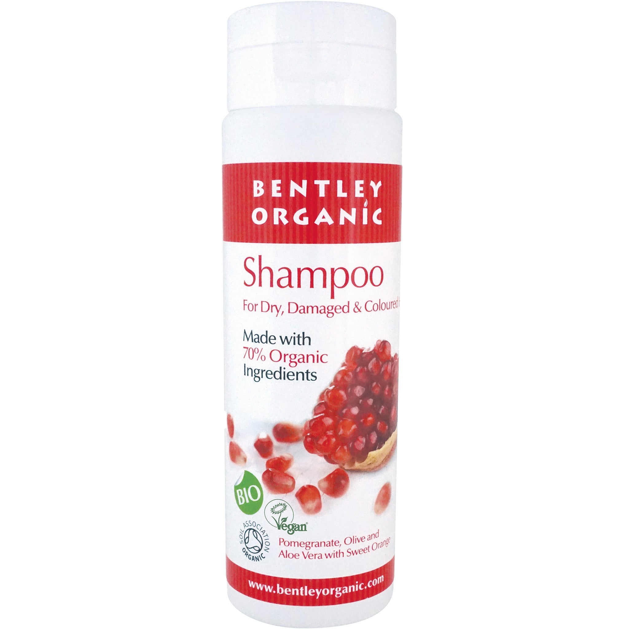 Shampoo with Pomegranate, Olive and Sweet Orange - For Dry and Damaged Hair