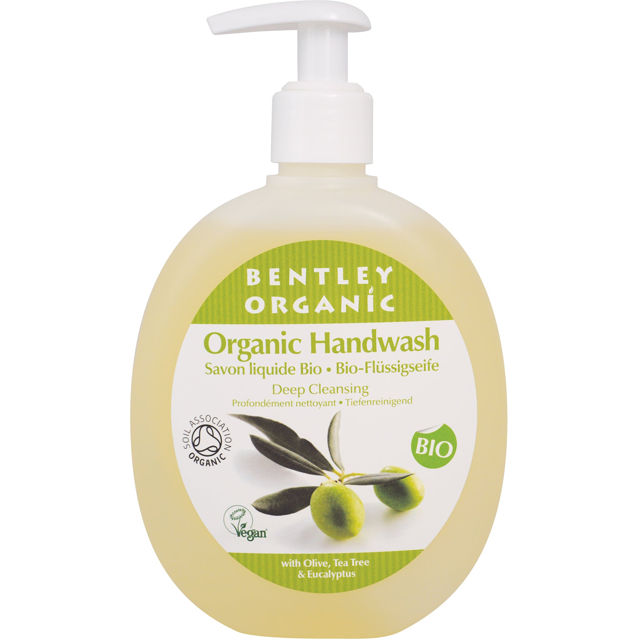 Deep Cleansing Handwash with Olive, Tea Tree and Eucalyptus