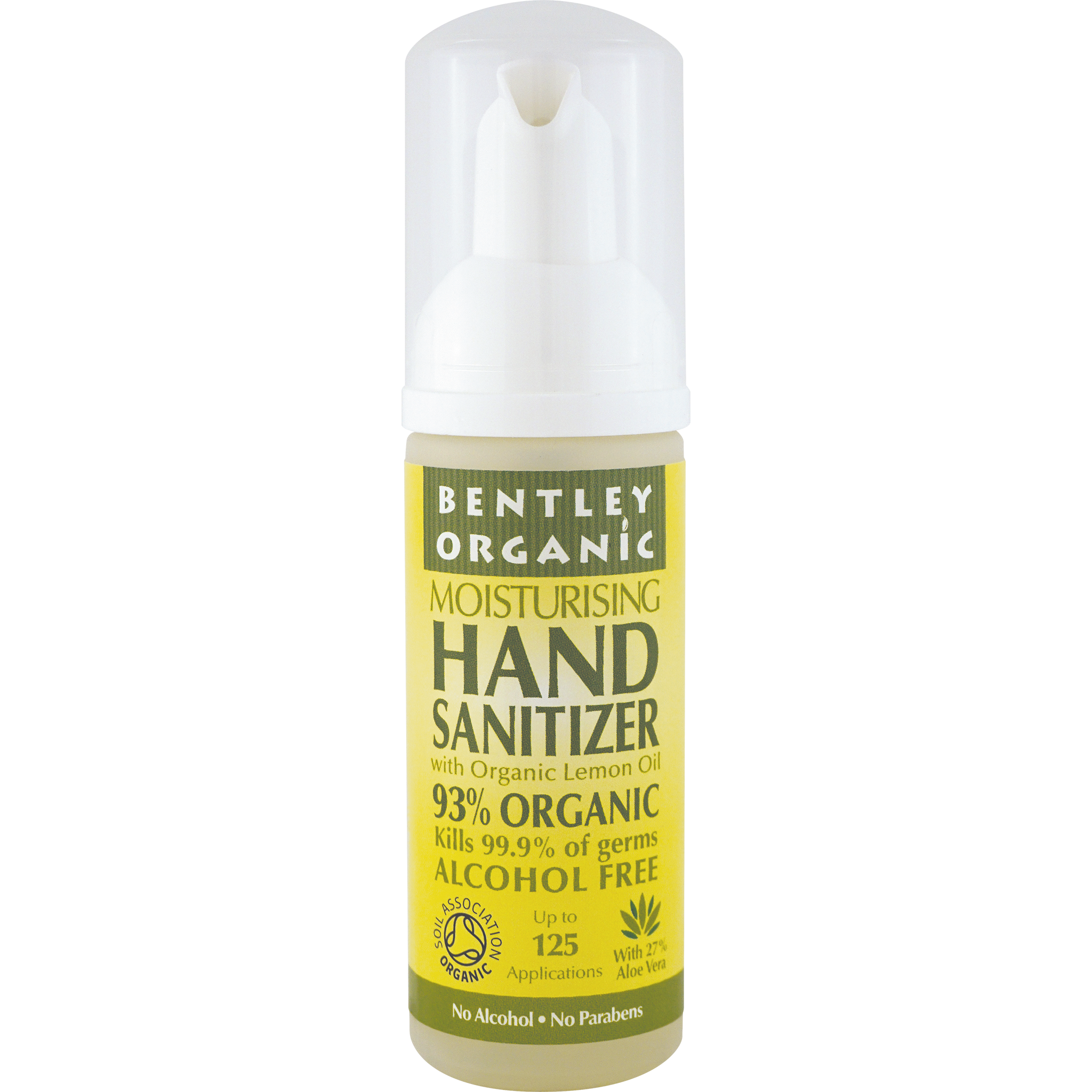 Natural Hand Sanitizer with Organic Lemon Oil