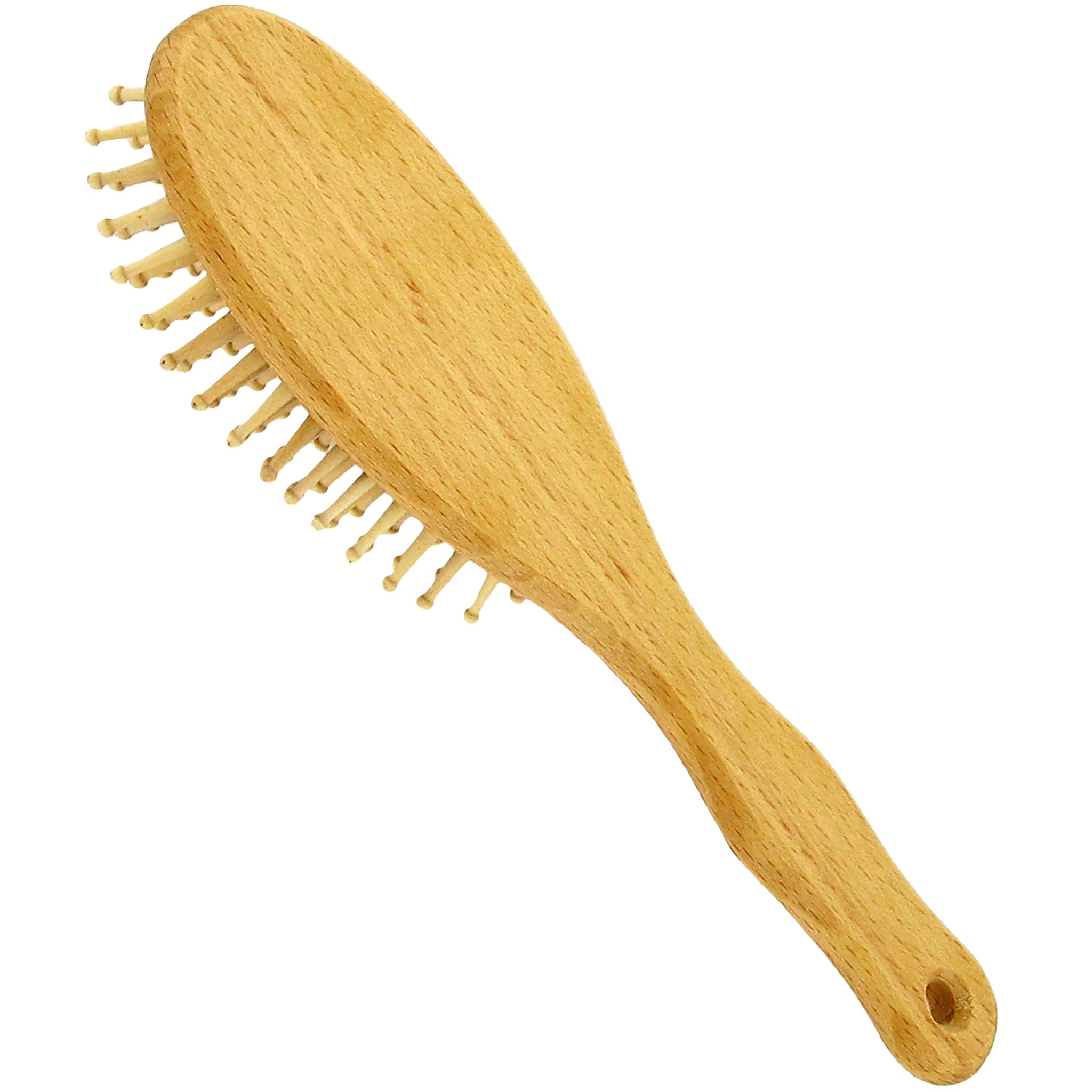Vegan Beech Wood Large Hair Brush with Round Wooden Pins
