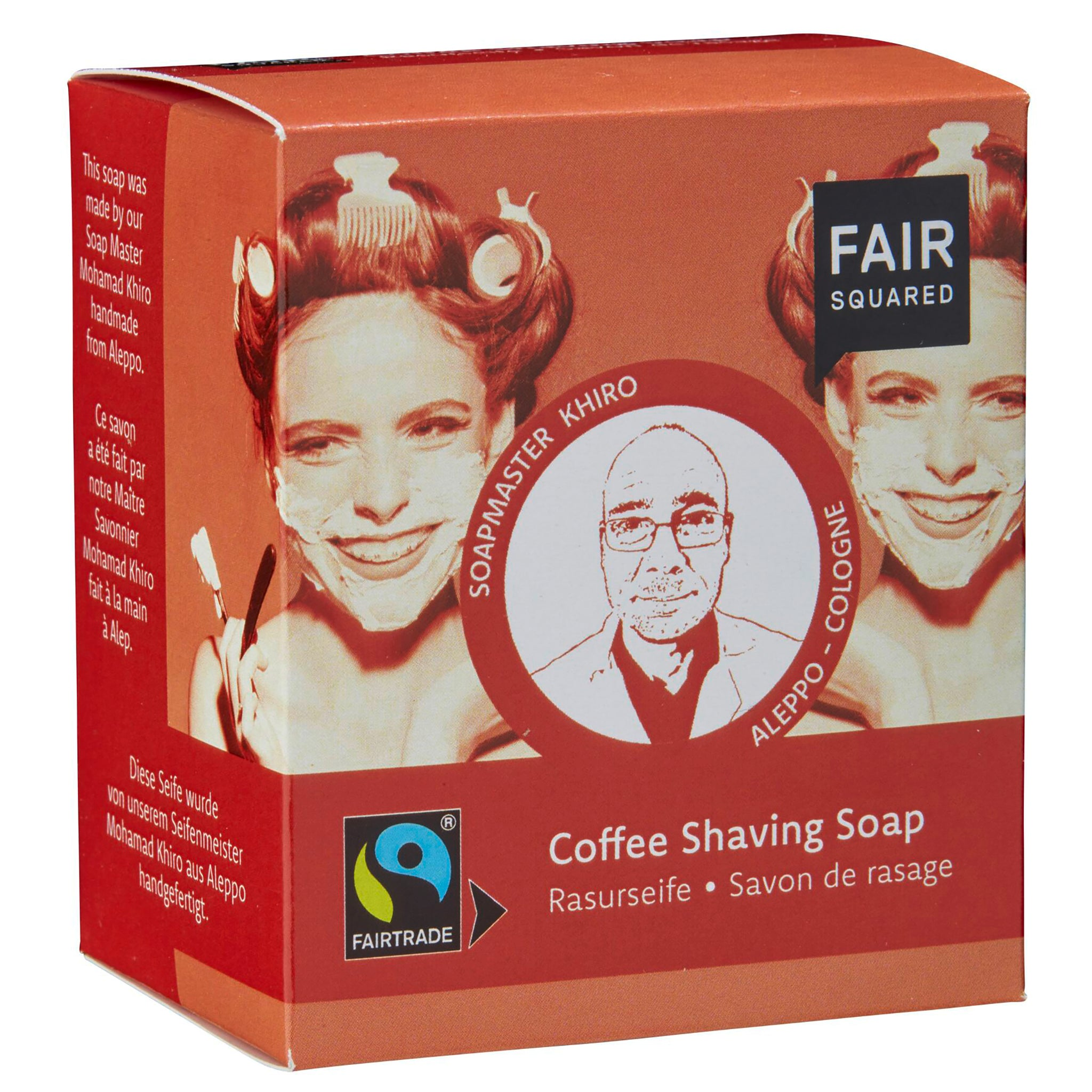 Coffee Shaving Soap with Cotton Soap Bag