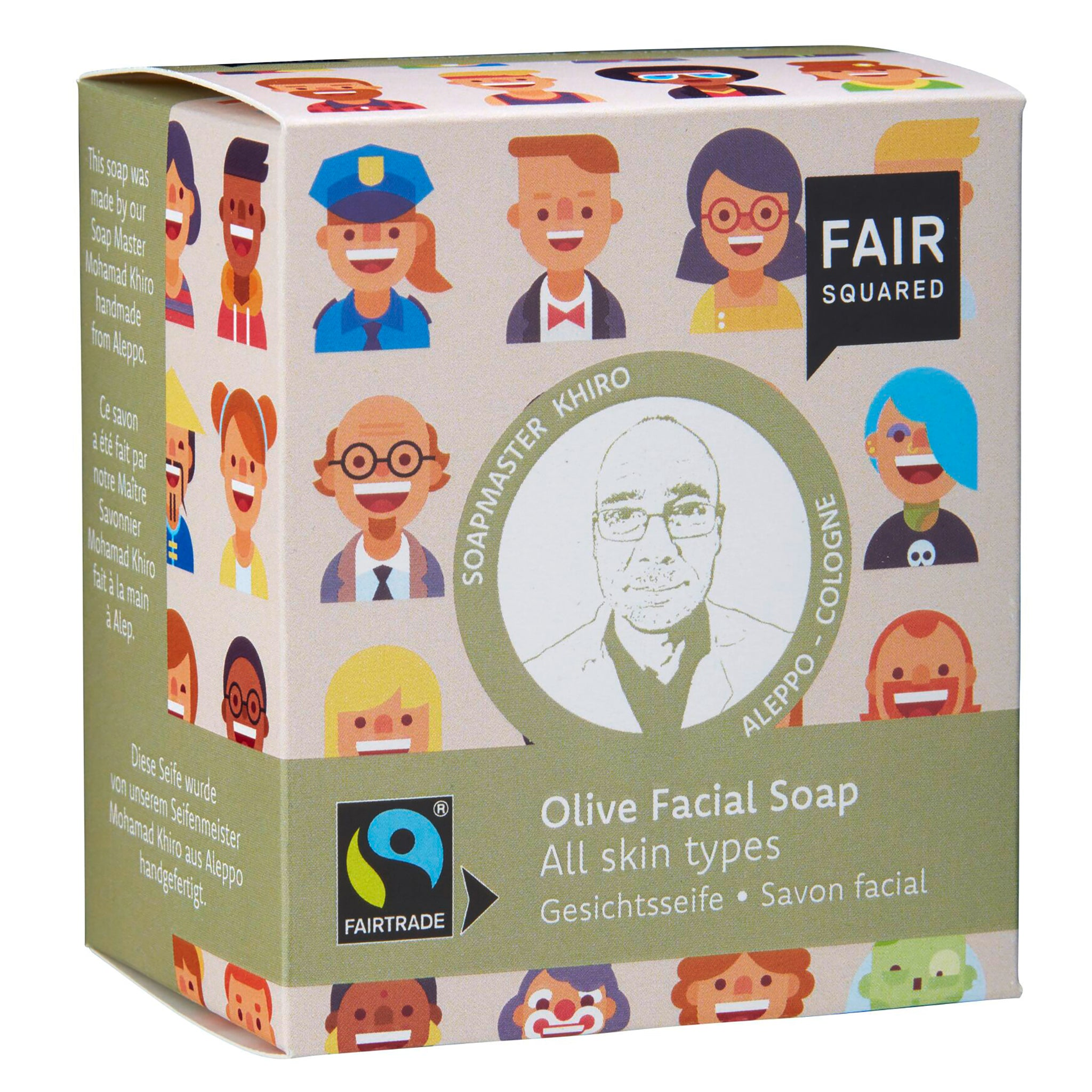 Olive Facial Soap with Cotton Soap Bag - For All Skin Types
