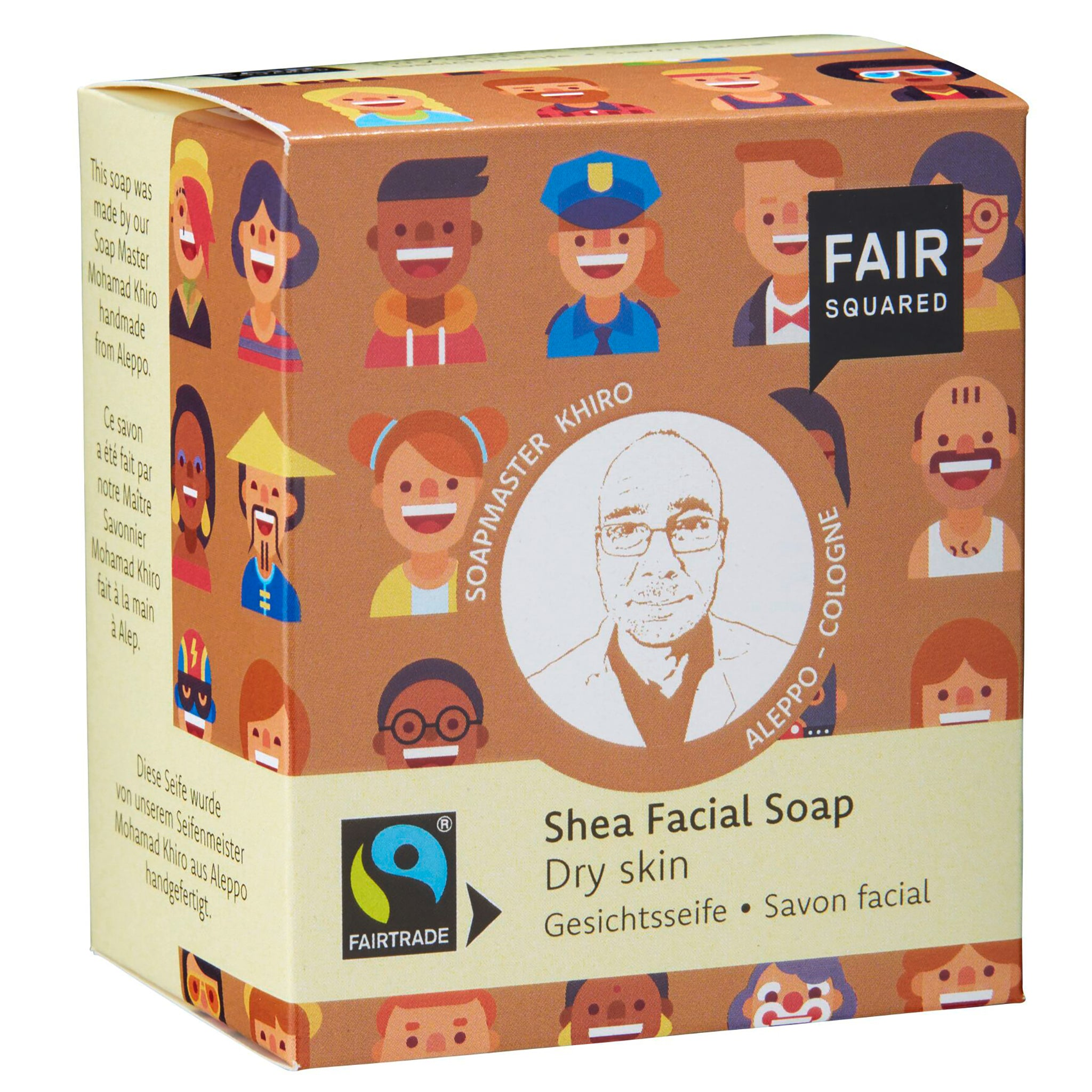 Shea Facial Soap with Cotton Soap Bag - For Dry Skin
