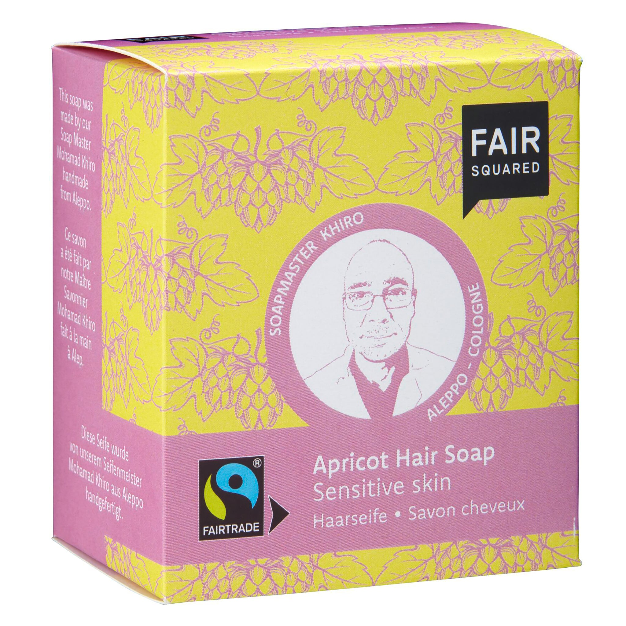 Apricot Hair Soap with Cotton Soap Bag - For Sensitive Scalps