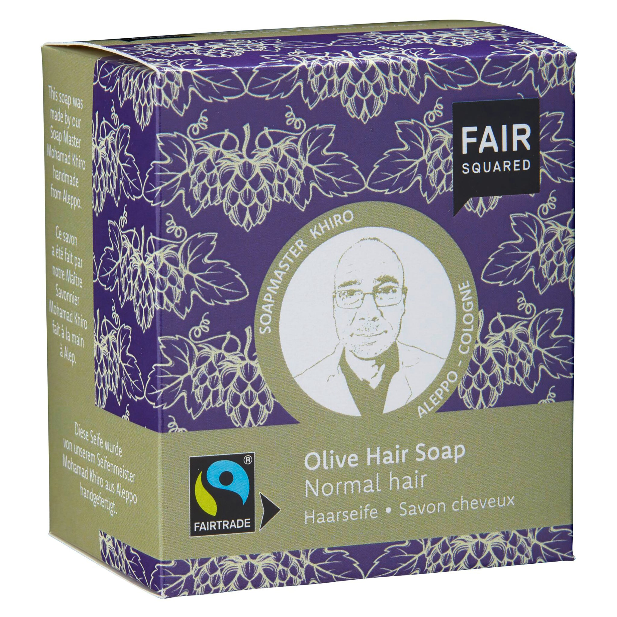 Olive Hair Soap with Cotton Soap Bag - For Normal Hair