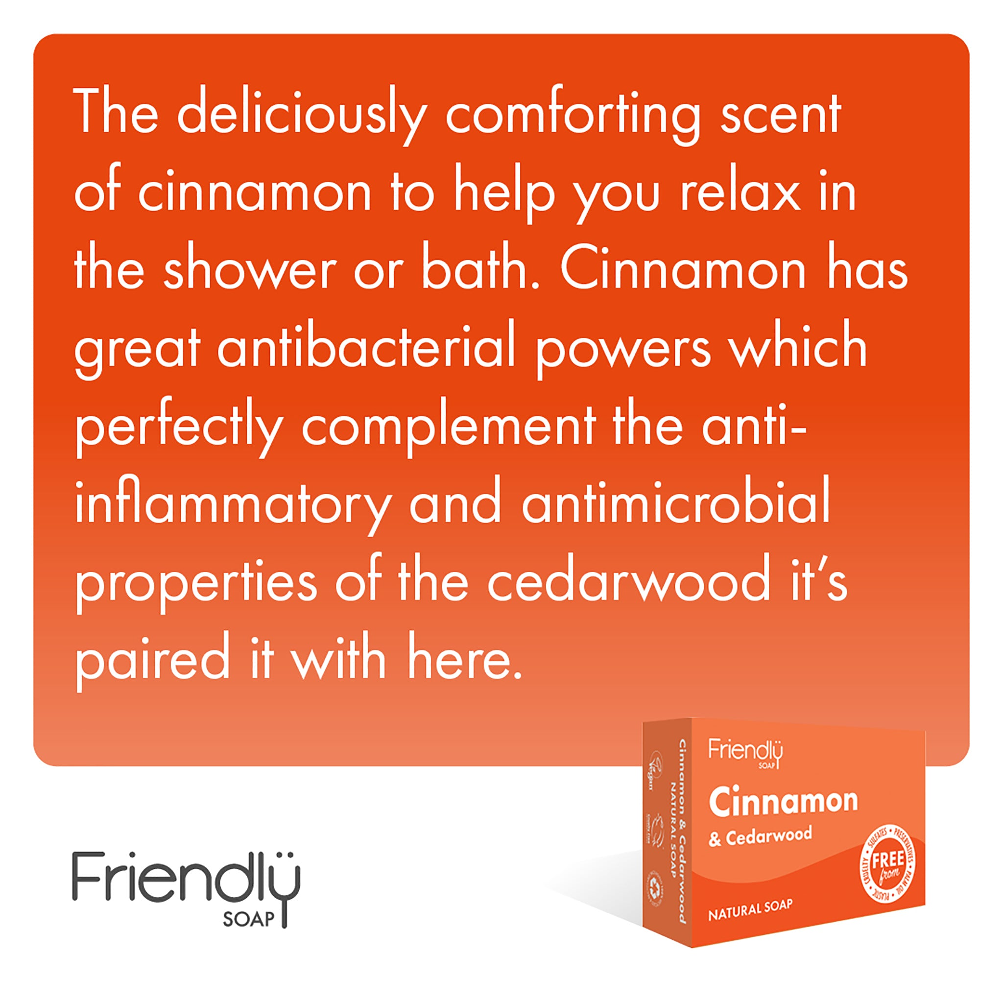 Cinnnamon & Cedarwood Soap Bar
