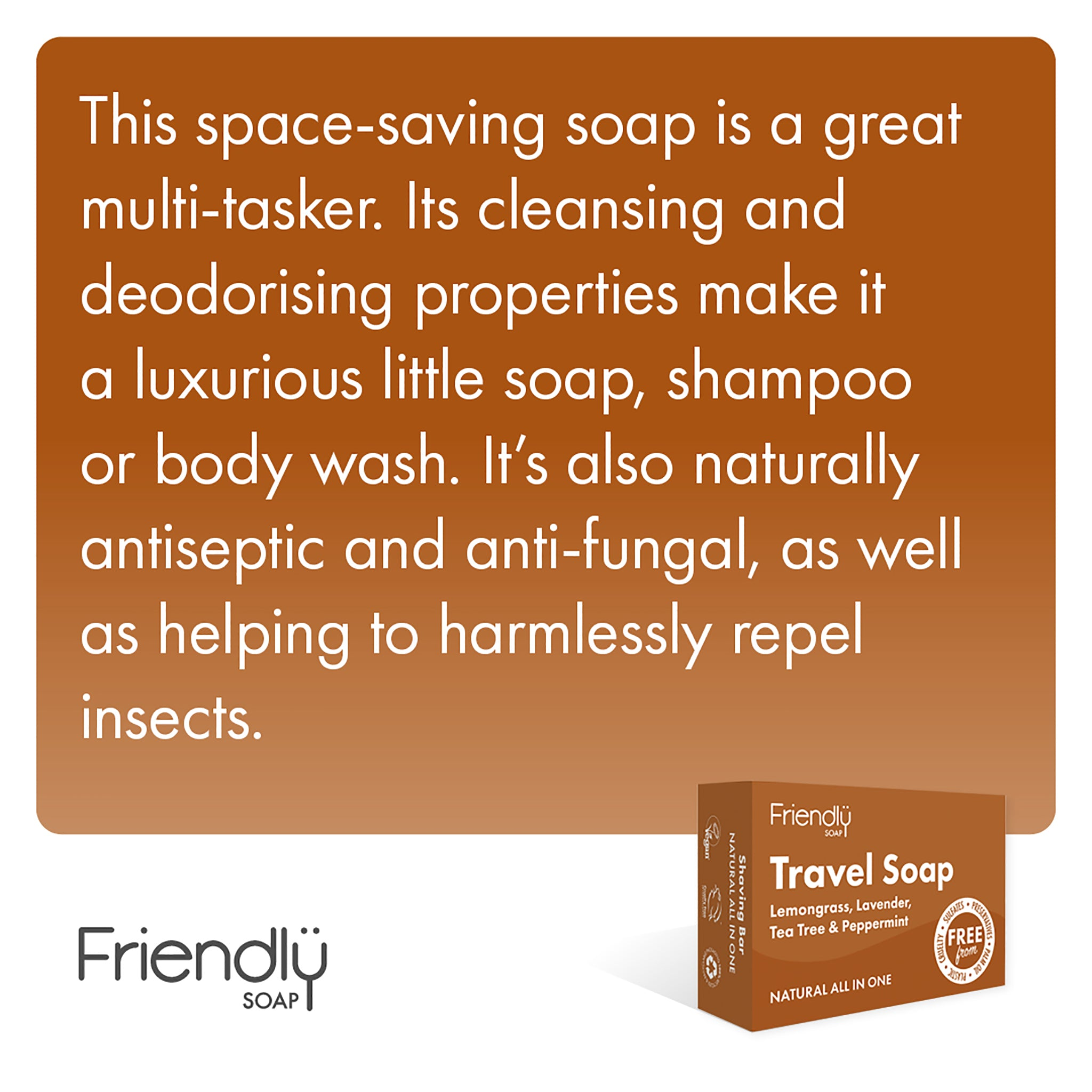 Travel Soap - Hair, Body & Laundry