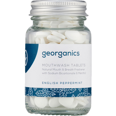 Georganics Mouthwash Tablets English Peppermint Natural Body Care-Image 1