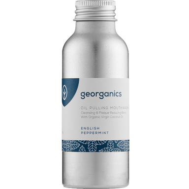 Georganics Oil Pulling Mouthwash English Peppermint Natural Body Care-Image 1
