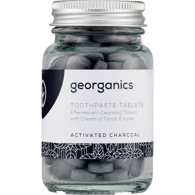 Georganics Toothpaste Tablets Activated Charcoal Natural Body Care-Image 1