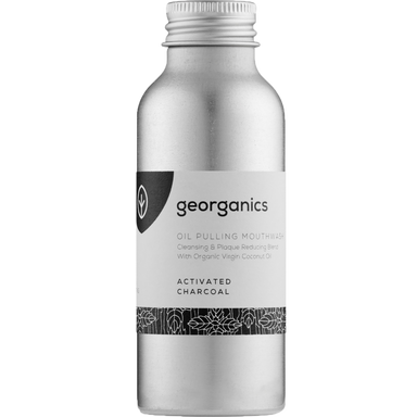 Georganics Oil Pulling Mouthwash Activated Charcoal Natural Body Care-Image 1