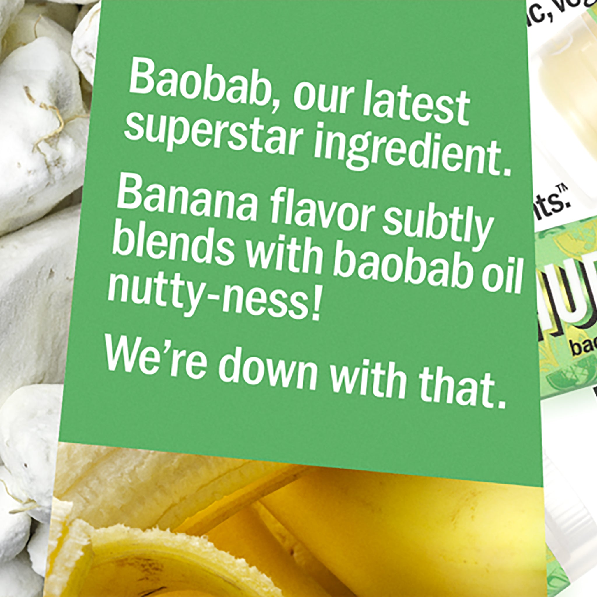 Baobab Banana Lip Balm - any 3 for £12