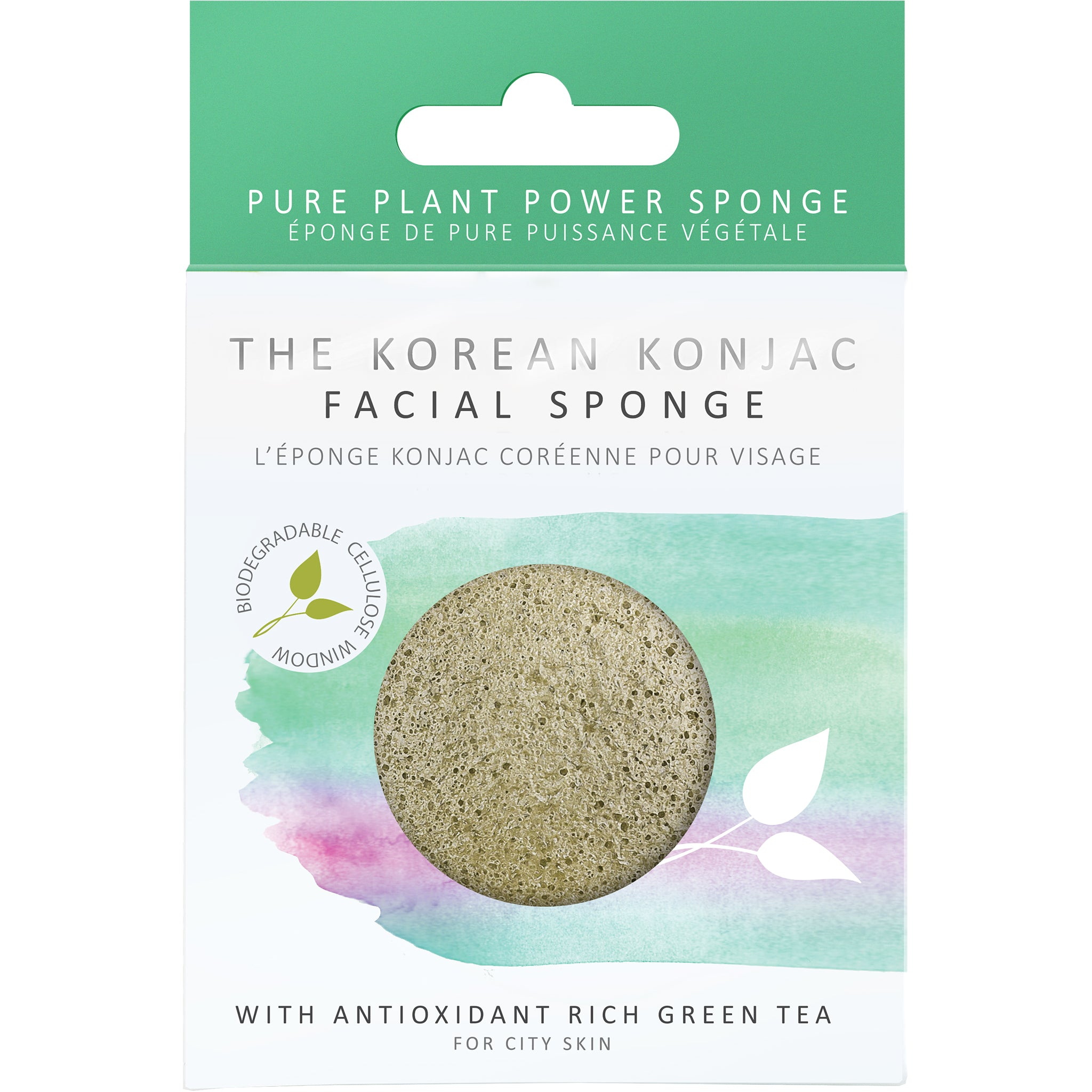 Konjac Premium Facial Puff Sponge With Green Tea