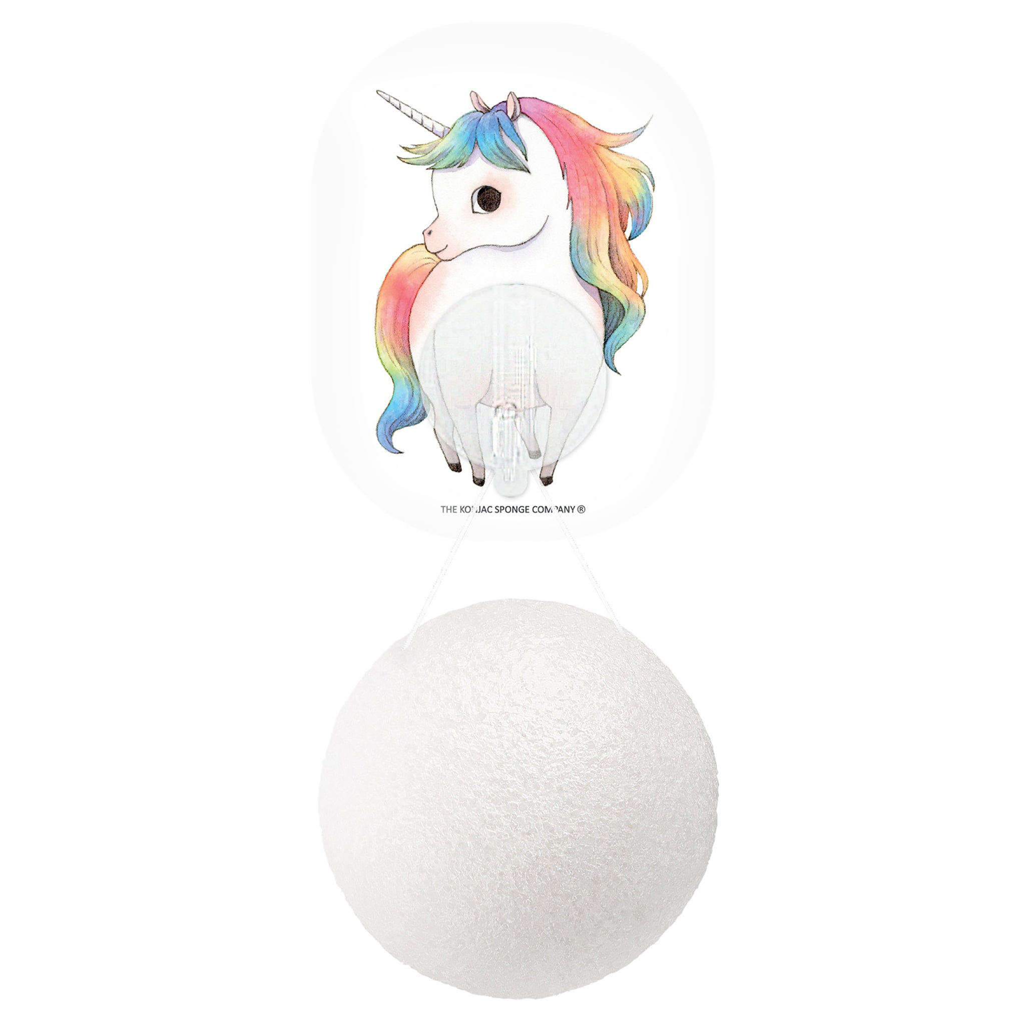 Mythical Standing Unicorn Konjac Face Sponge & Hook 100% Pure