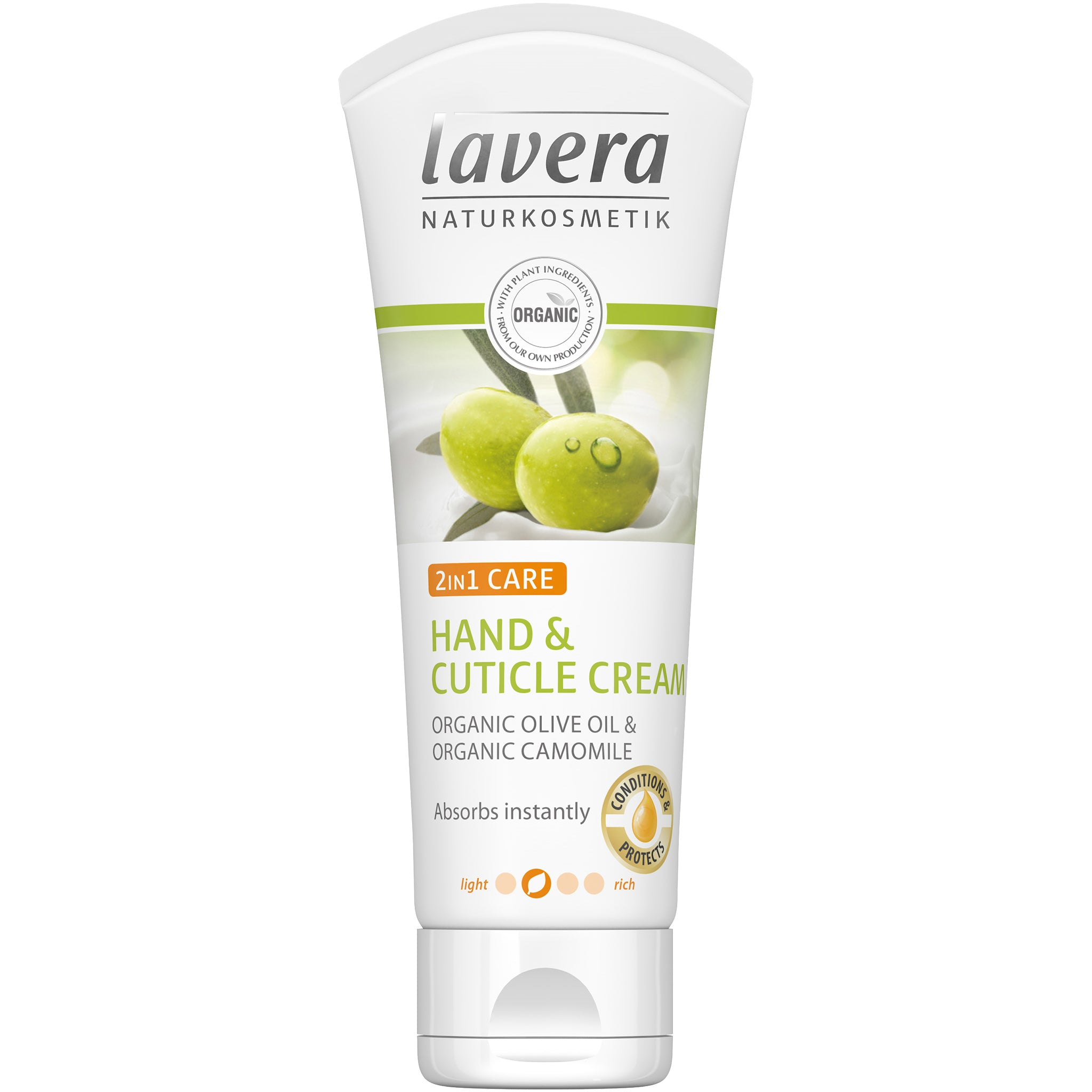 2 in 1 Hand & Cuticle Cream with Organic Olive Oil