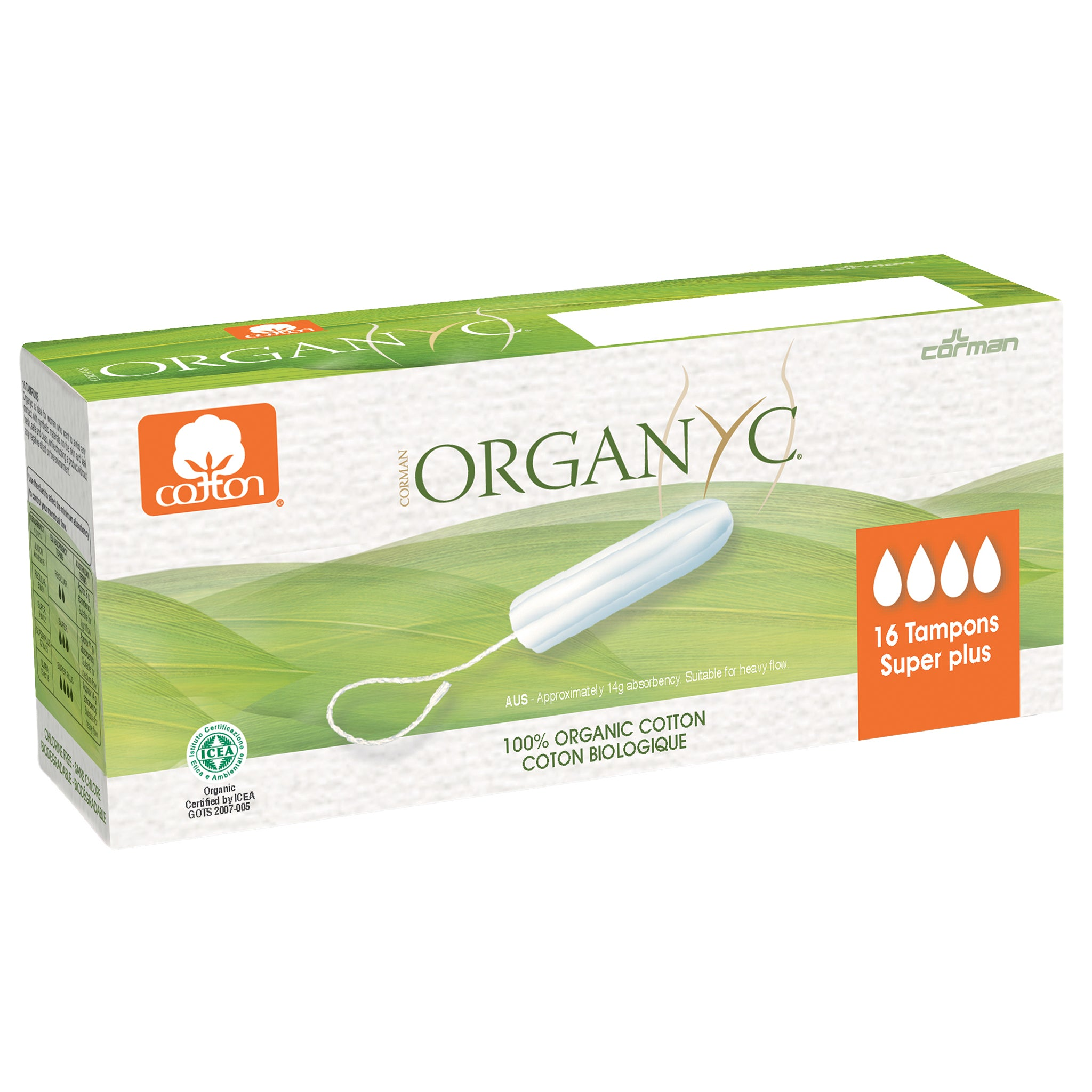 Organ(y)c Organic Cotton Tampons Super Plus