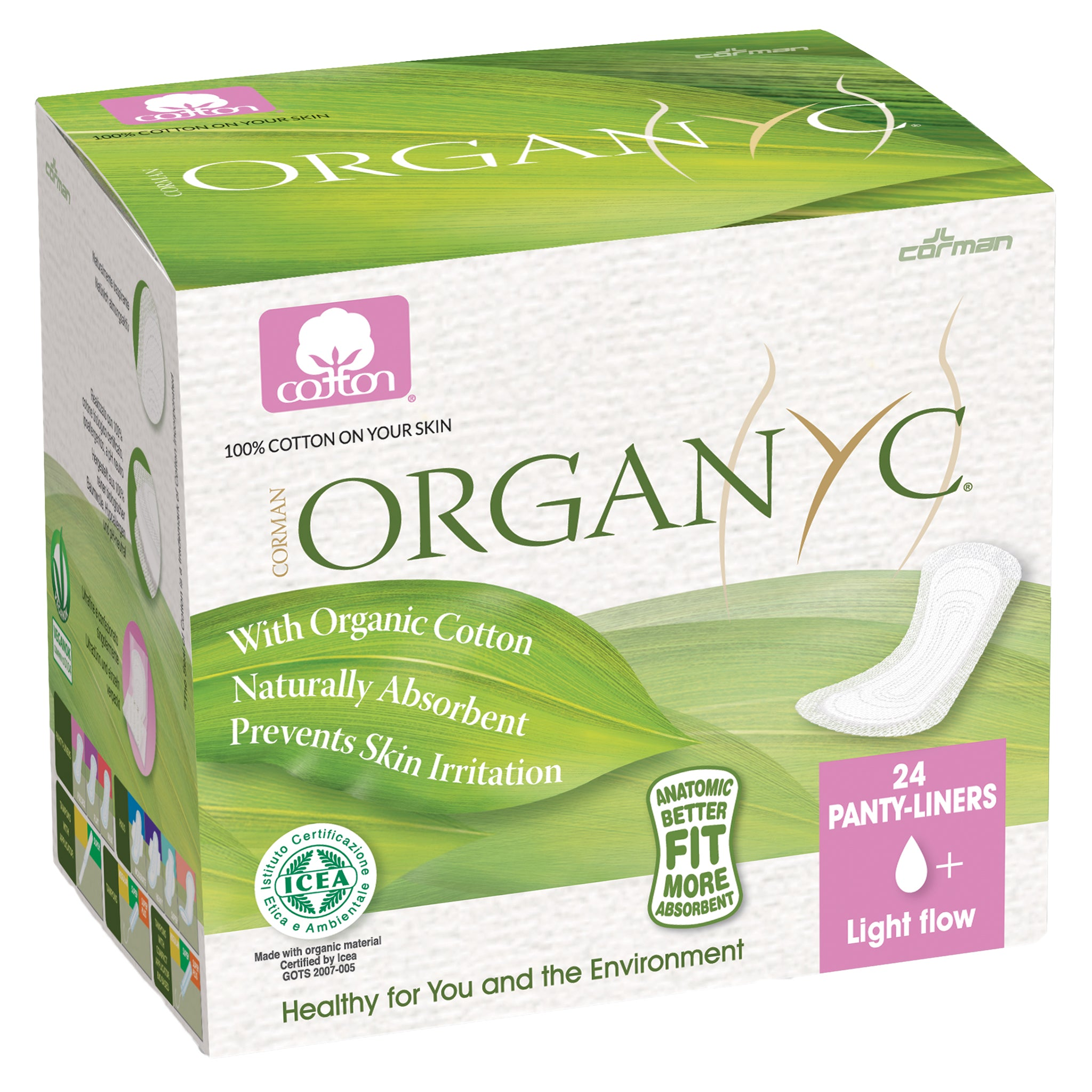 Organ(y)c Organic Cotton Panty Liners Folded Light Flow