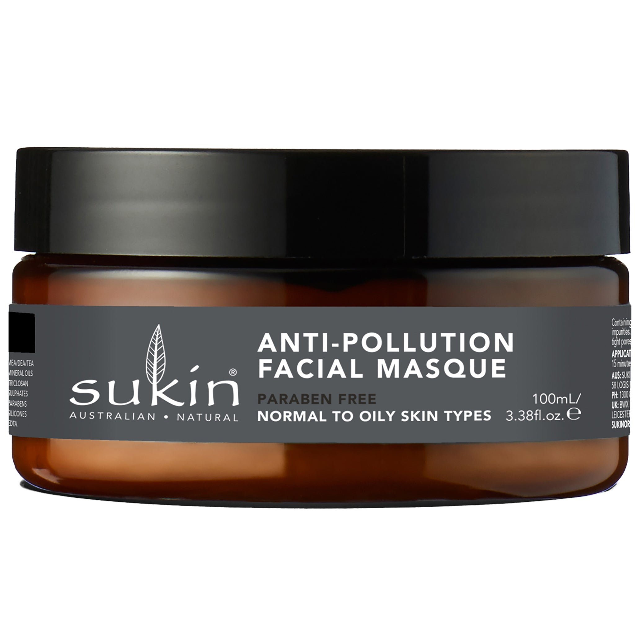 Oil Balancing, Anti-Pollution Charcoal Facial Masque