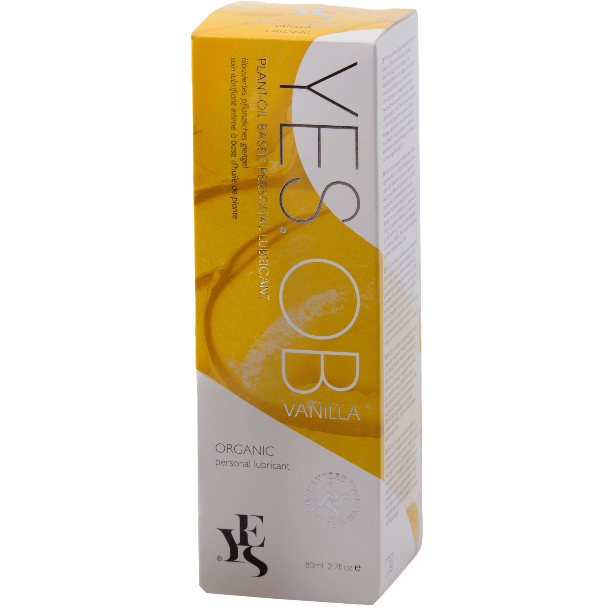 YES oil-based Natural Personal Lubricant with Madagascan Vanilla