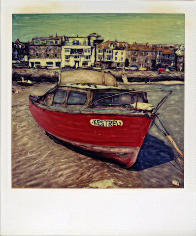 The Kestrel - Saint Ives Harbor | Polaroid SX-70 Reproduction