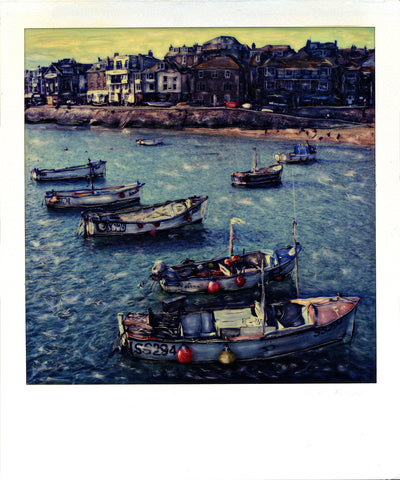 Fishing Boats Saint Ives | Polaroid SX-70 Reproduction