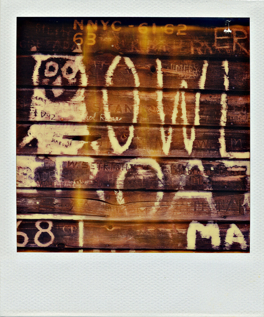 Owl Graffiti - Door County | Polaroid Reproduction