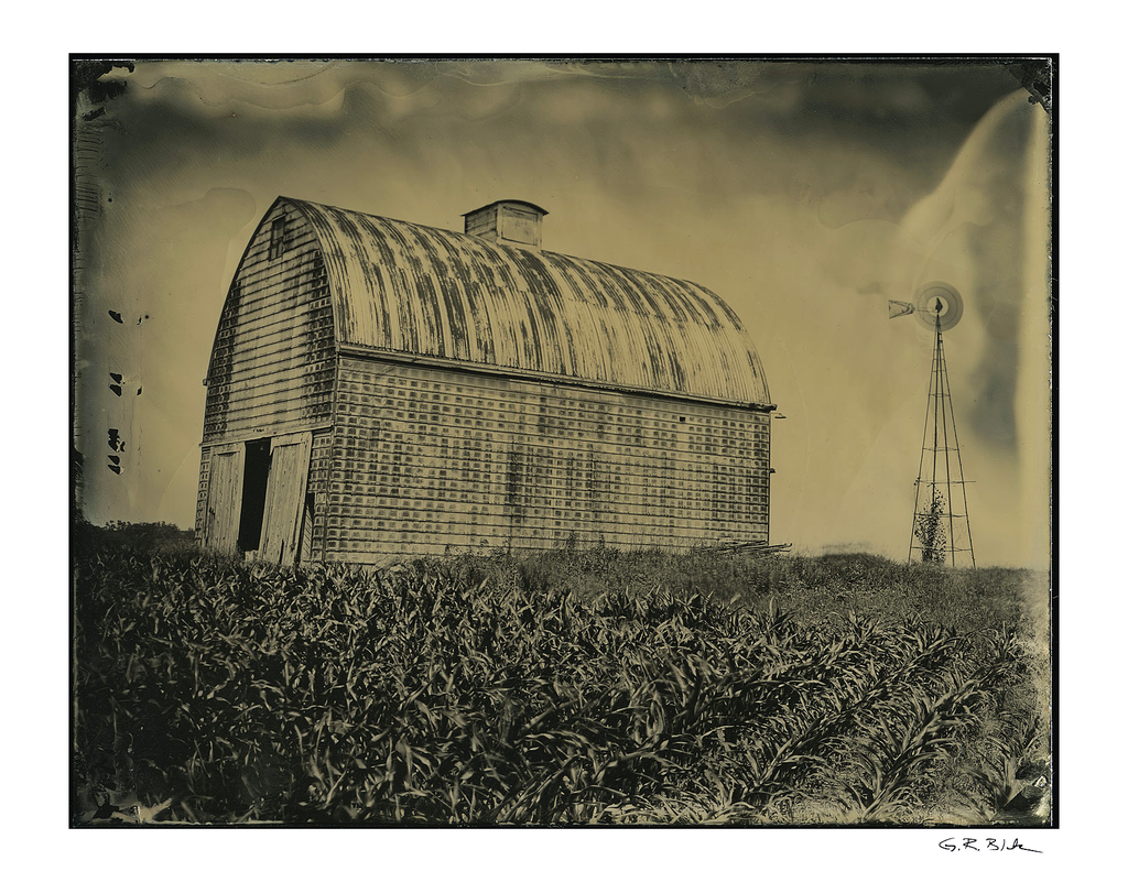 Metal Tiled Barn | Tintype Reproduction