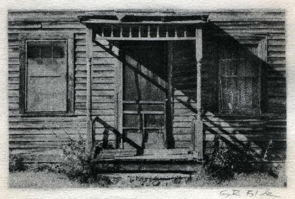 Shadowed Porch | Bromoil Reproduction