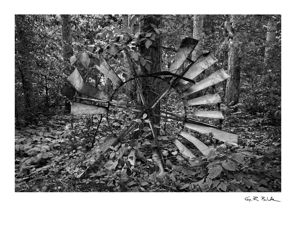 Windmill Blades In The Woods | Digital Fine Art Print