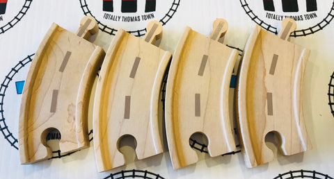 "3.5"" Curved Road Track 4 Pieces - Thomas Brand - Totally Thomas Town"