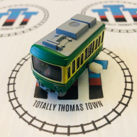501 Green & Yellow Commuter Capsule Plarail Wind Up - Used