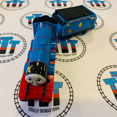 O' The Indignity Gordon with Tender (2009) Fair Condition Missing Linkage Arms and Tape around Clip - Trackmaster