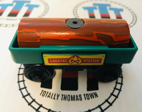 Jumping Jobi Wood Log Car (2003) Good Condition Wooden - Used